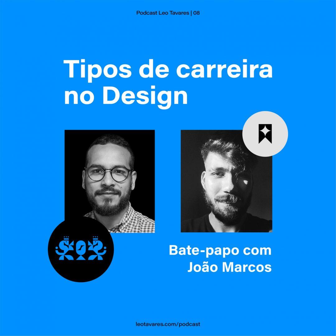 Capa podcast Joao marcos me leo tavares design